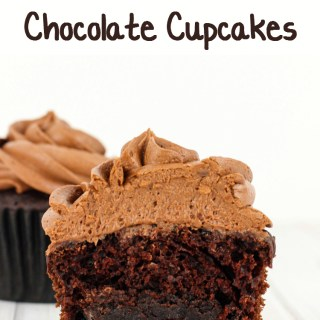 Brownie Stuffed Chocolate Cupcakes