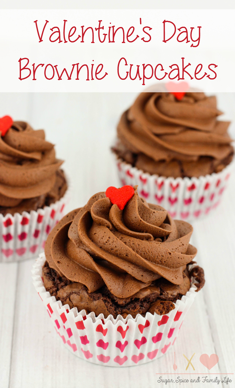 valentines day brownie cupcakes recipe sugar spice and family life - Valentine Cupcake Recipes
