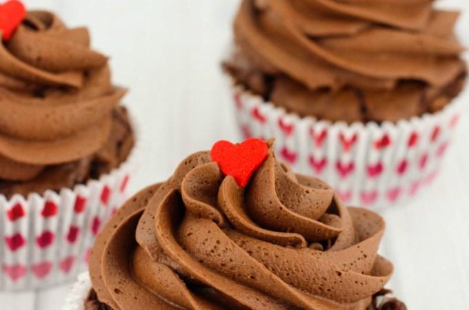 Valentine's Day Brownie Cupcakes