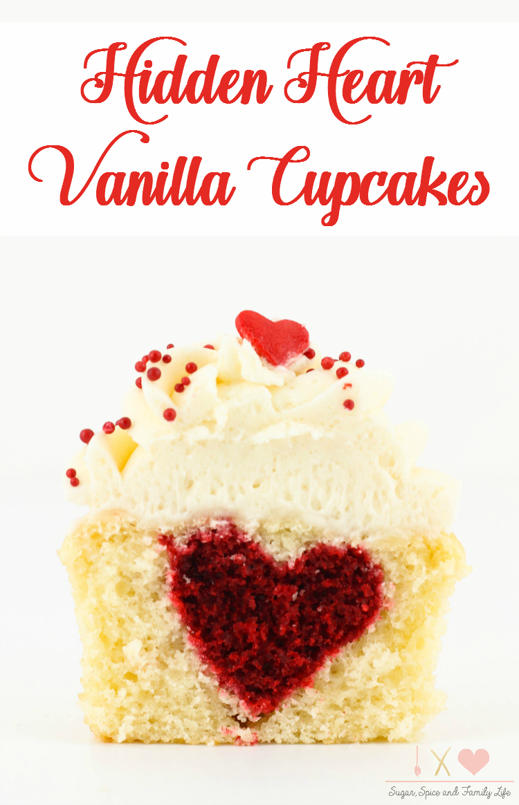 Hidden Heart Vanilla Cupcakes