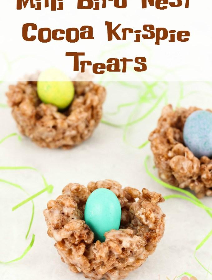 Mini Bird Nest Cocoa Krispie Treats