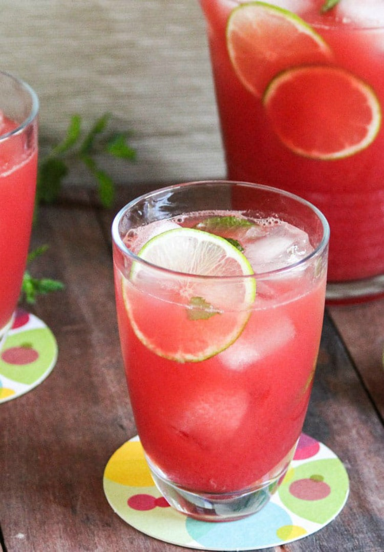 Watermelon and Mint Aguas Frescas