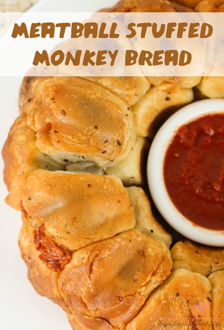 Meatball Stuffed Monkey Bread