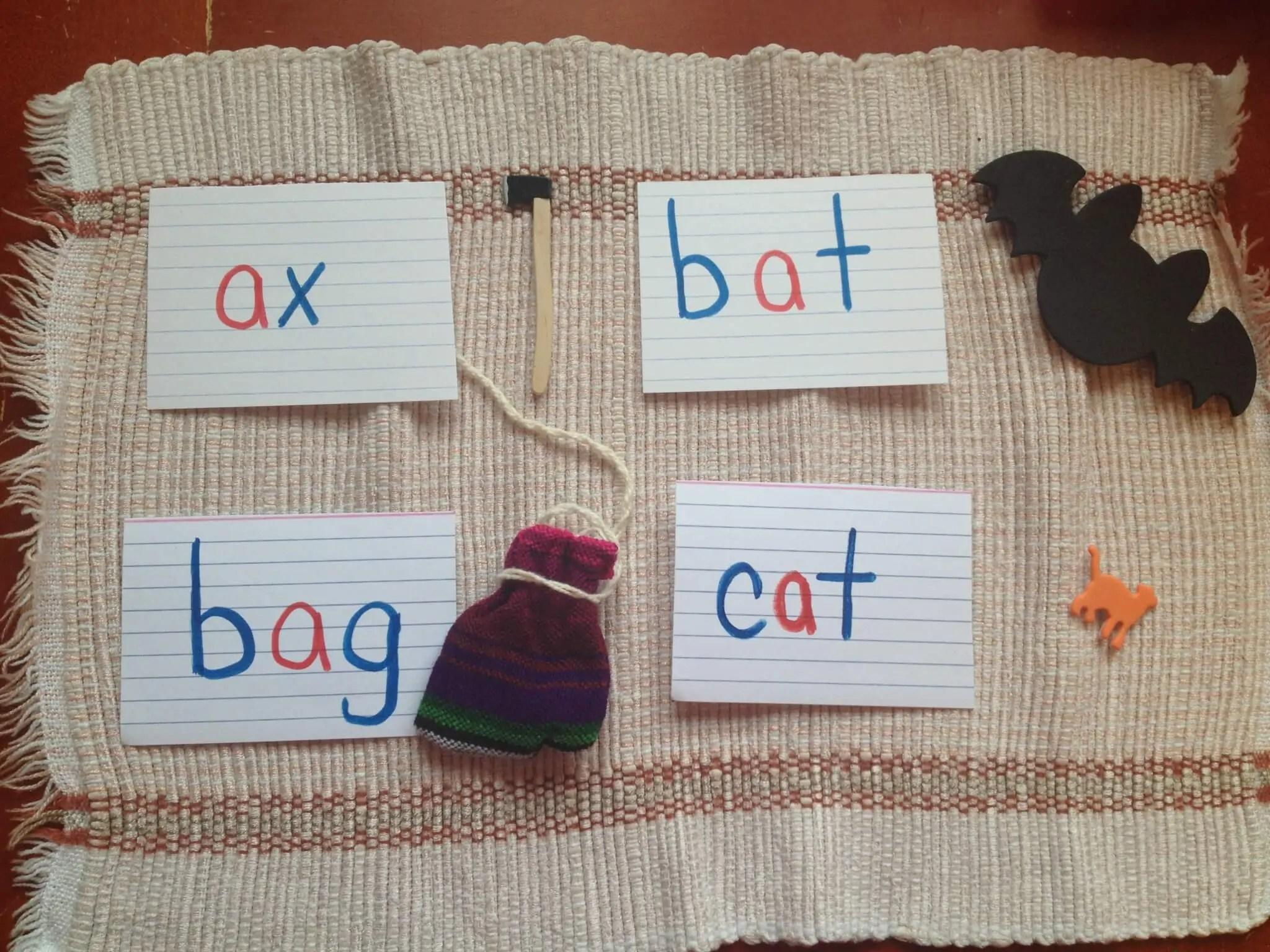 Montessori Pink Series Cvc Language Object Boxes Sugar