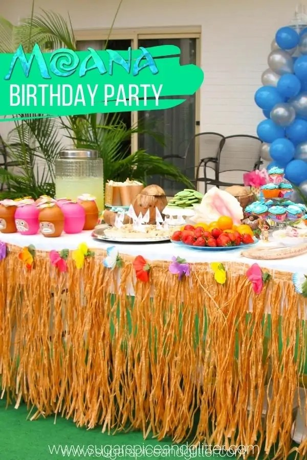 Moana Birthday Party On A Budget Sugar Spice And Glitter