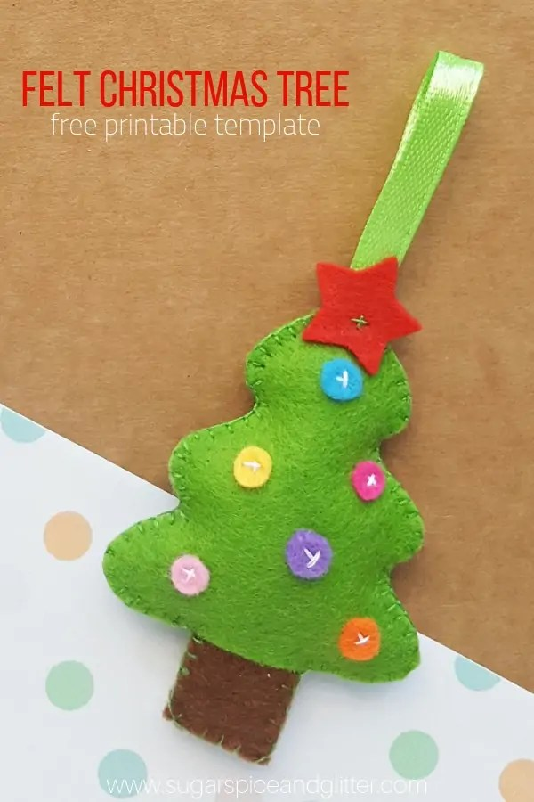 graphic about Free Printable Christmas Sewing Patterns identify Sewing guideline: Felt Xmas tree ornament Sewing