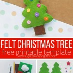 Felt Christmas Tree Craft Sugar Spice And Glitter
