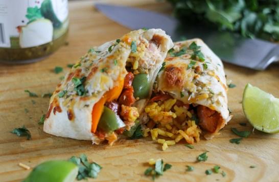 Chicken & Andouille Sausage Burrito