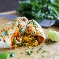 Chicken & Andouille Sausage Burritos