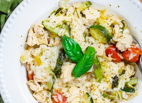 Roasted Vegetables and Chicken Risotto (Instant Pot or Stove Top)