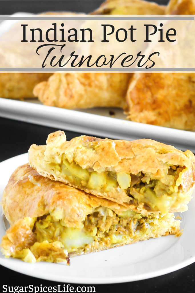 Delicious turnovers filled with Indian spiced vegetables and turkey. These Indian Pot Pie Turnovers are a unique dinner that will satisfy the whole family!
