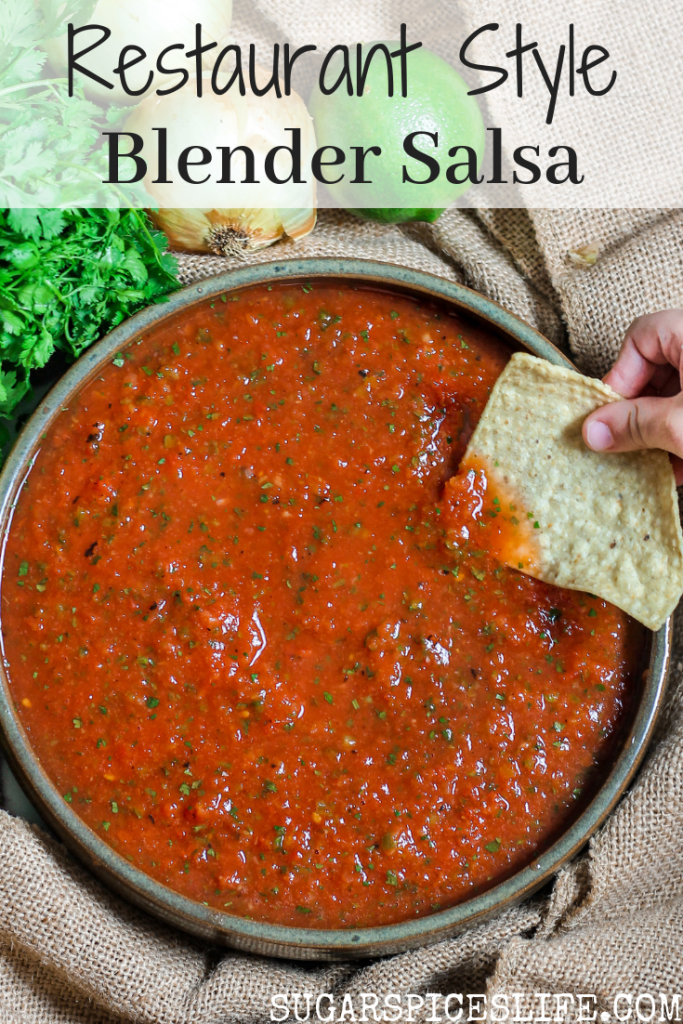 Restaurant Style Blender Salsa. This salsa couldn't be easier or quicker to make, and will rival even the best of restaurant salsas.