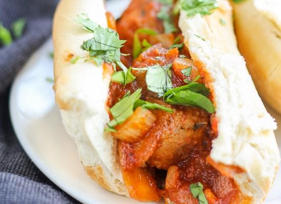 Asian Pork Meatball Sandwich