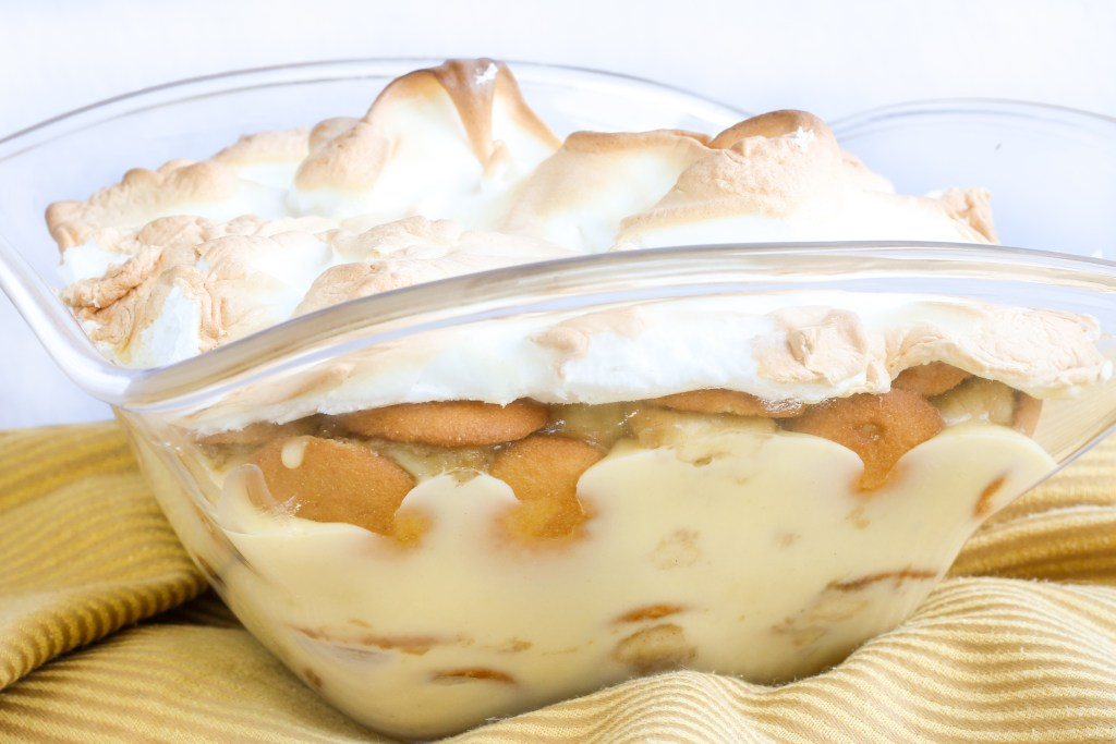 Caramelized Banana Pudding. Homemade vanilla pudding with Nilla wafers, caramelized bananas and topped with meringue. This recipe takes your banana pudding to a new level!