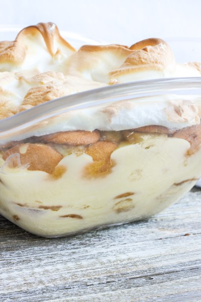 Caramelized Banana Pudding. Homemade vanilla pudding with Nilla wafers,caramelized bananas and topped with meringue. This recipe takes your banana pudding to a new level!