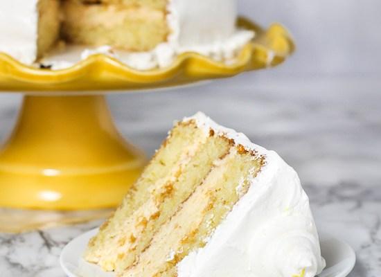 Lemon Cake with Lemon Oreo Filling