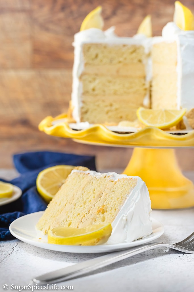 A moist, lemon cake with lemon Oreo cookie dough filling, and a lemon cream cheese frosting. This Lemon Cake with Lemon Oreo Filling is a lemon lover's dream!