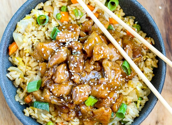 Honey Garlic Pork with Fried Rice