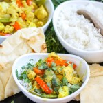 Lemongrass Curry Chicken: Chicken and vegetables cooked in a savory lemongrass coconut curry sauce, and served over rice. Flavorful and delicious!