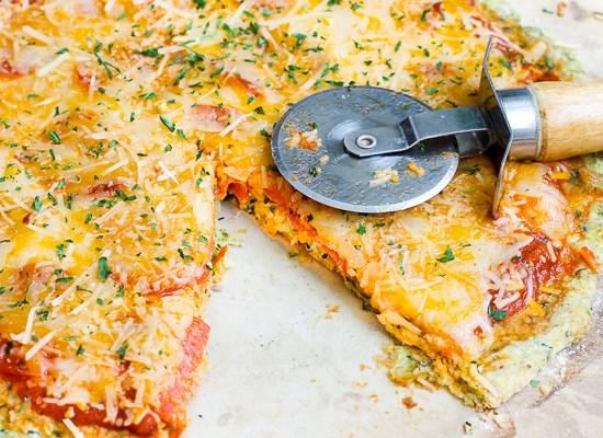 Zucchini Crust Pepperoni Pizza