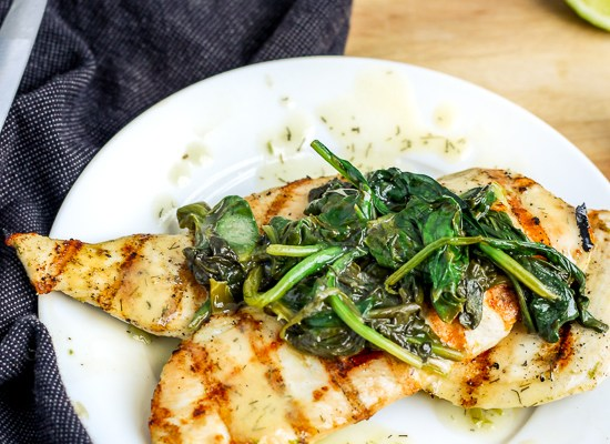Grilled Chicken with Lime Butter Sauce