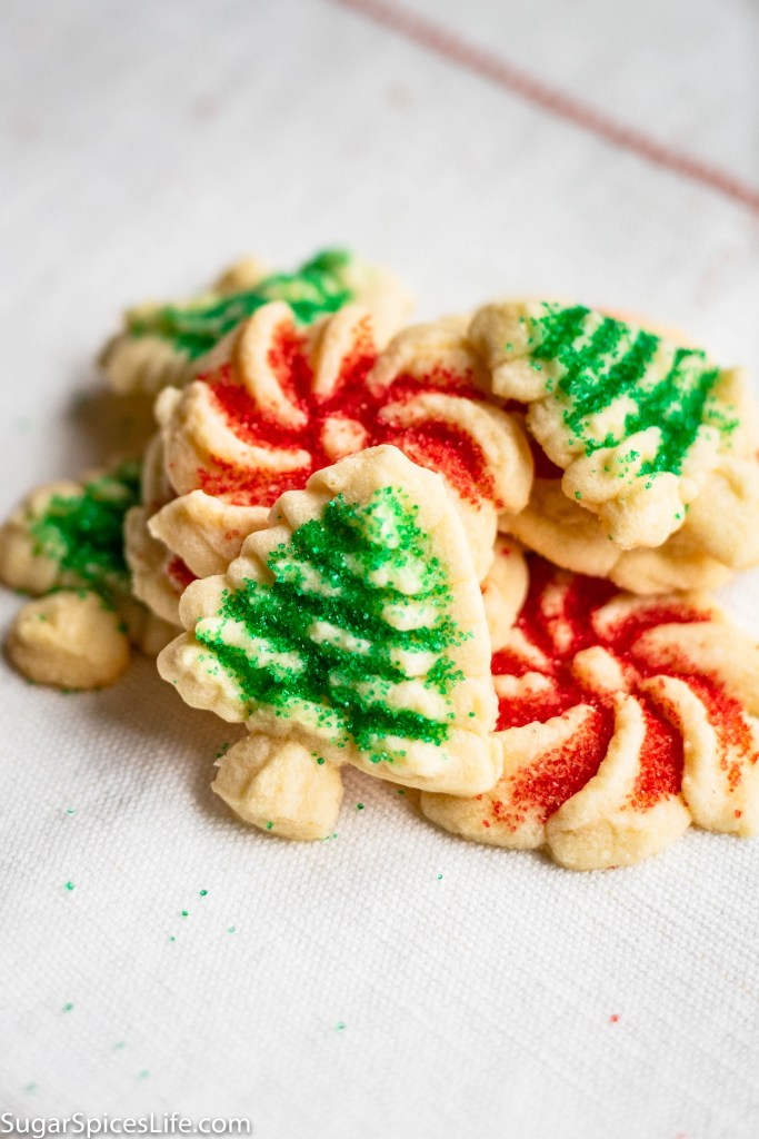 ookie Press Cookies (Spritz Cookies). Rich, buttery cookies made into all sorts of shapes with a cookie press!