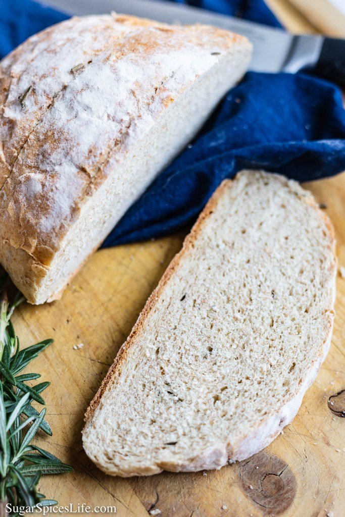 This Instant Pot Garlic Rosemary Bread is a soft, delicious yeast bread made with browned butter, fresh rosemary, and garlic. It rises in an Instant Pot and bakes in the oven!