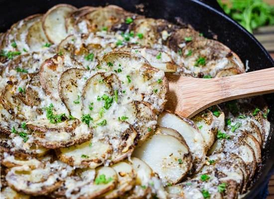 Asiago PDO Skillet Potatoes