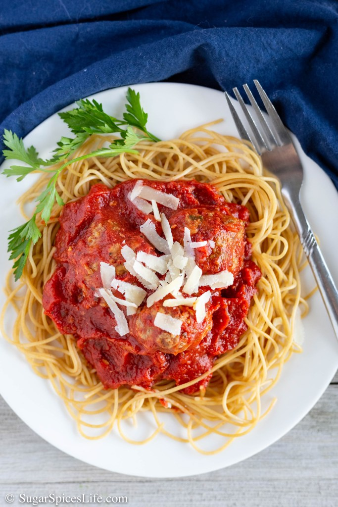 These Meatballs in Marina Sauce are full of flavor, addictively delicious, and easy to make. You will never want another meatball or marinara sauce recipe.