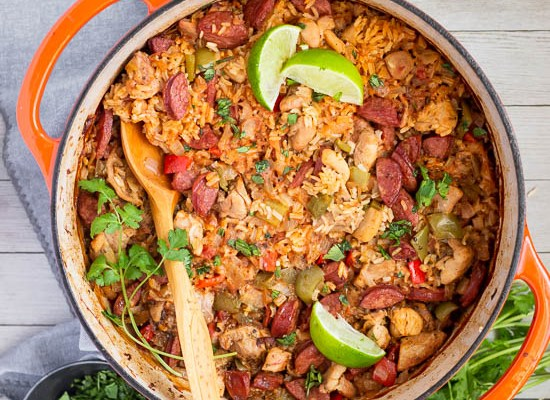 One Pot Sausage, Chicken and Rice