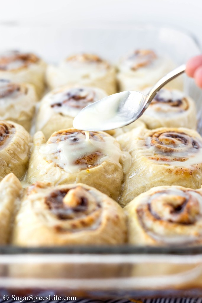 These Orange Cinnamon Rolls are large, soft yeast rolls with a cinnamon orange filling and orange drizzle icing. Perfect for breakfast, a holiday brunch, or just an afternoon snack.