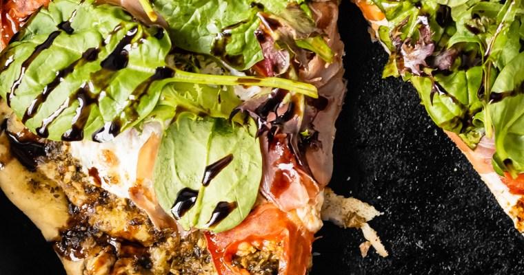 Prosciutto Caprese Skillet Pizza
