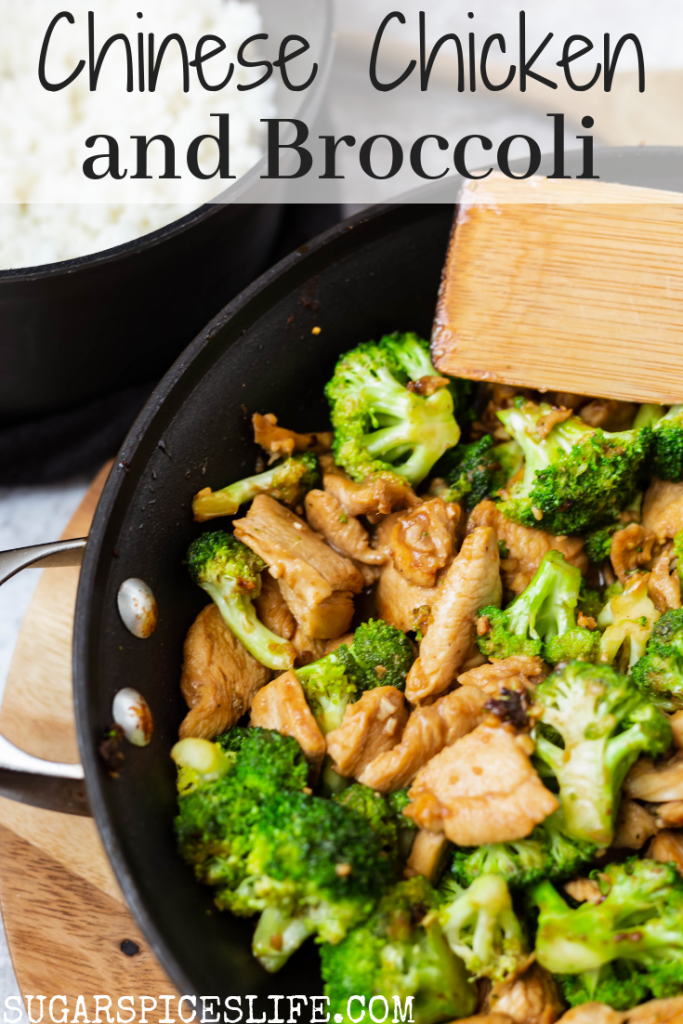 This Chinese Chicken and Broccoli recipe has skillet chicken cooked in a delicious sauce, tossed with broccoli, and served over rice. As tasty and as quick as Chinese takeout!