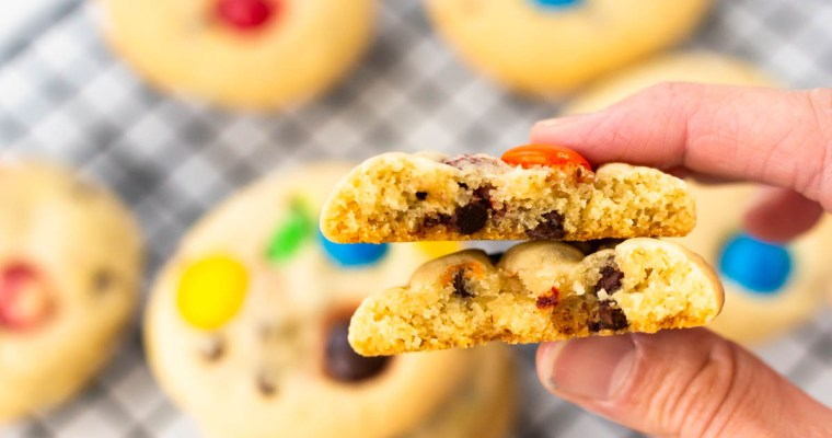 Chewy Chocolate Chip Candy Cookies