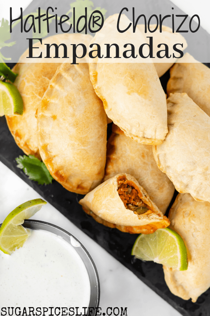 Hatfield® Chorizo sautéd with vegetables, folded into a homemade pastry and baked until perfectly crisp. These Hatfield® Chorizo Empanadas are easy to make and full of delicious flavor. #FALLInLoveWithHatfield, #REdiscover #simplyhatfield #CollectiveBias #Ad