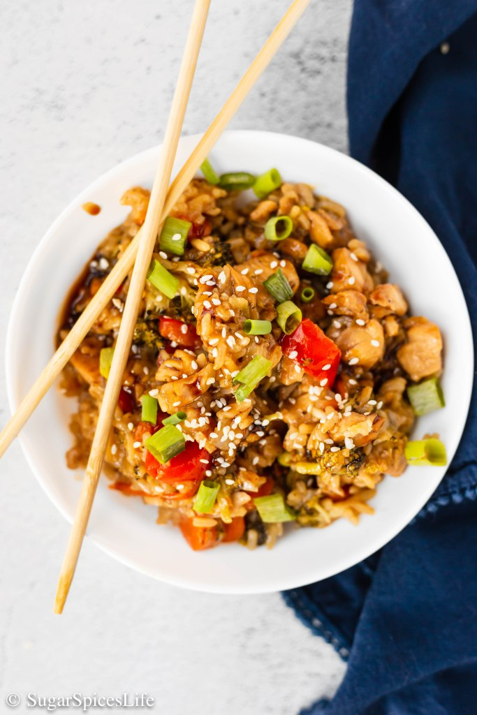 Sautéd chicken and vegetables, mixed with rice and cooked in a homemade teriyaki sauce. This Instant Pot Teriyaki Chicken and Rice is a quick, full of flavor weeknight meal.