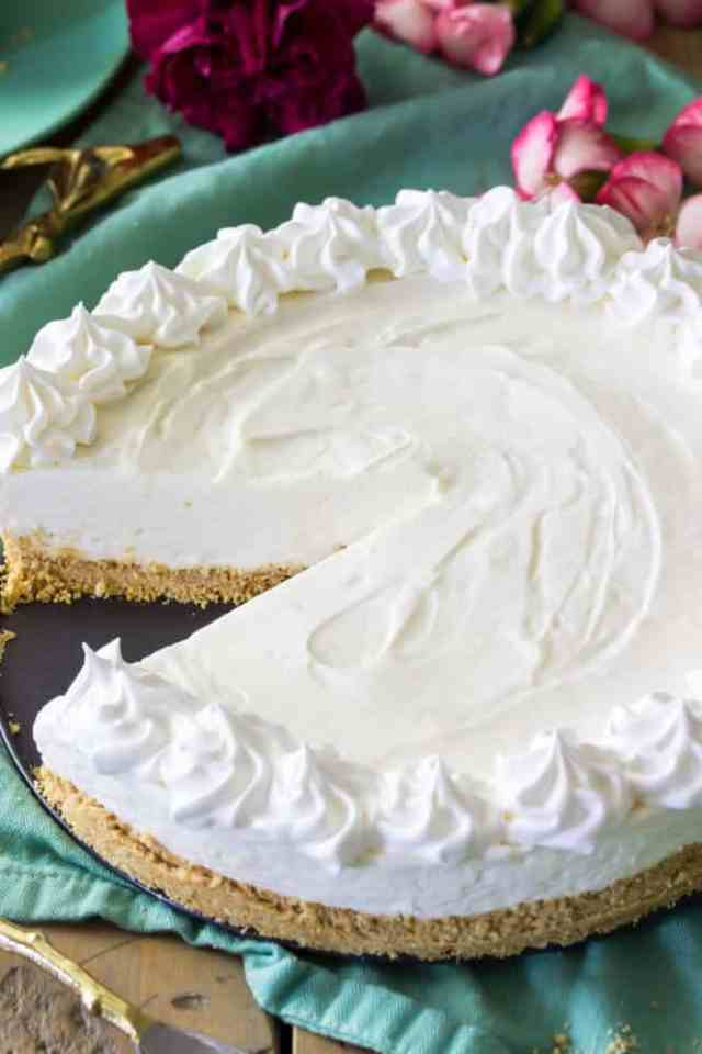 No Bake Cheesecake Can Be Made With Homemade Whipped Cream Or Cool Whip