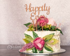 Textured buttercream with artificial flowers from Pollinate Gold Coast, topper from Sugar Boo, photo On Earth Photography
