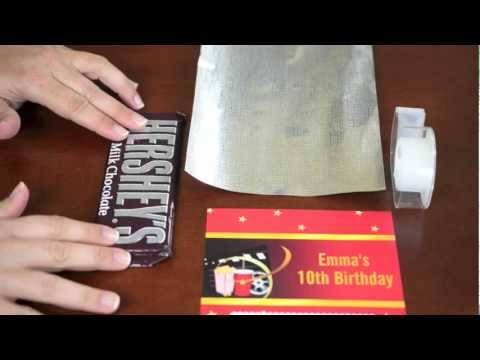 Custom Candy Bar Wrapper Instructions