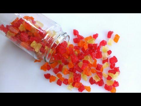 কাচা পেঁপের ক্যান্ডি/মোরব্বা/টুটি ফ্রুটি   Raw papaya candy/Tutti fruty   Honemae tutti fruti recipe