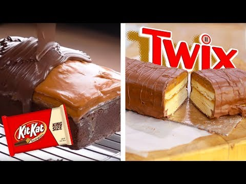 DIY Giant Twix Candy Bar & KitKat Chocolate Bar Bites!! | Dessert Recipes and Food Hacks by So Yummy