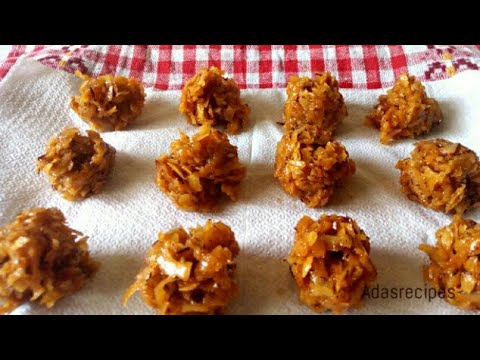 Make Crunchy Nigerian Coconut Candy Recipe | Adasrecipes
