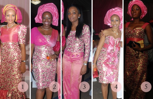 Aso Ebi Face Off Pink Petal Power Sugar Weddings Amp Parties