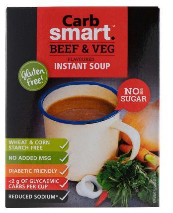 Carbsmart Beef & Veg Soup 4x17g