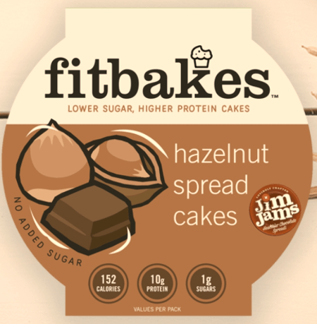 Fitbakes Hazelnut Choc Cakes