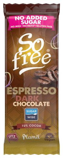 So free No added sugar Dark Espresso 35g by Plamil