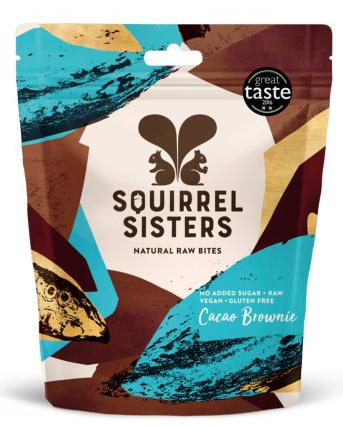 Squirrel Sisters Raw Bites, Share Bags: Cacao Brownie