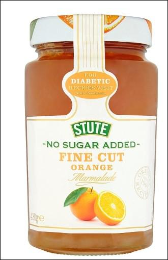 Stute No Sugar Added Fine Cut Orange Marmalade