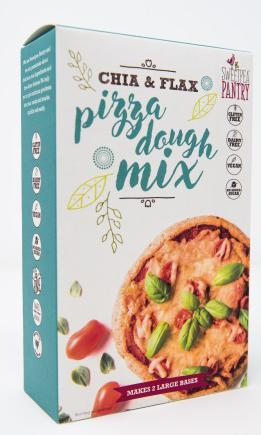 Sweetpea Pantry Gluten-free Pizza Dough Mix with chia and flax (made up with oil and water)
