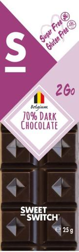 SWEET-SWITCH 70% Dark Chocolate Bar
